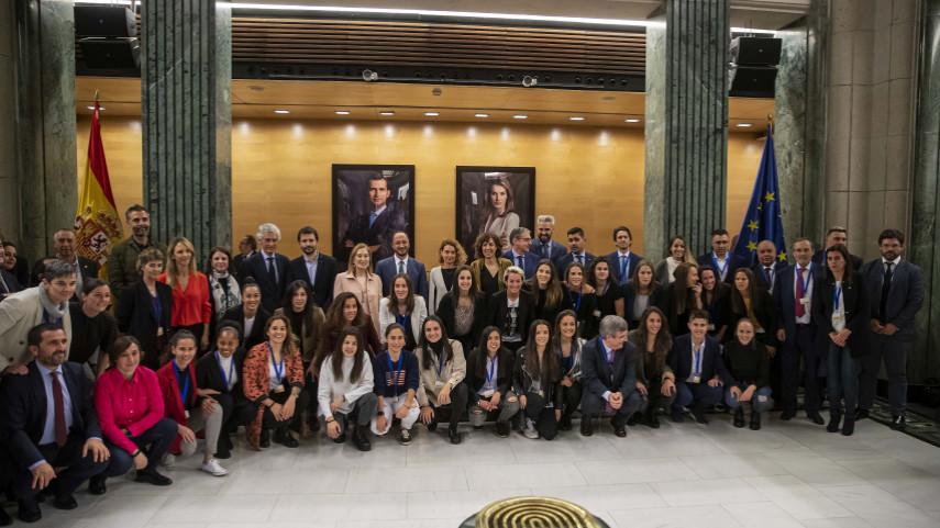 El Congreso de los Diputados acoge la presentación del Primer Convenio de Fútbol Femenino